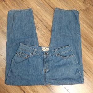 LL Bean Women's Classic Fit Straight Jeans Sz 14P